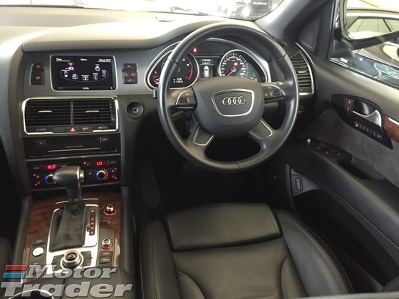 2012 AUDI Q7 3.0 TFSi V6 Petrol Engine 333hp Quattro 8Speed New Facelift Smart Entry Push Start Button MMi 3 Memory Power Seat Automatic Power Boot BOSE Surround System Xenon Daytime LED Multi Function Paddle Shift Steering Bluetooth Connectivity 1 Year Warranty