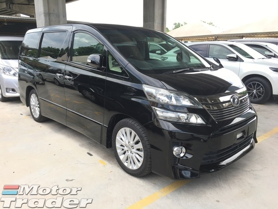 2012 TOYOTA VELLFIRE 2.4 Z Edition Sport 7 Seat 2 Power Door Smart Entry Push Start Xenon Light Climate Control 9 Air Bag