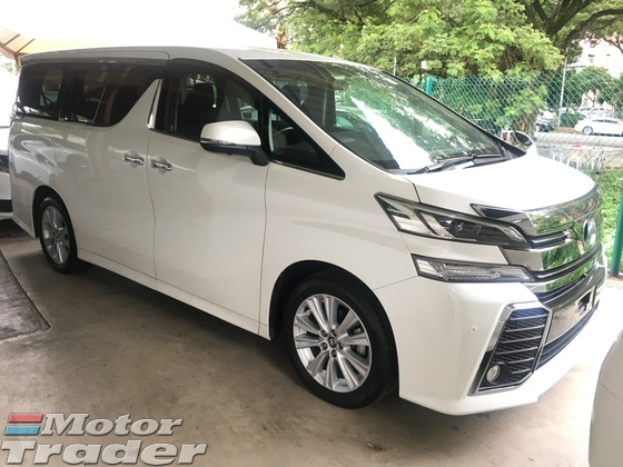 2015 TOYOTA VELLFIRE 2.5 ZA Edition 4 Surround Camera 7 Seat 2 Power Door Adaptive Bi LED Light System Smart Entry Push Start Button Multi Function Steering Bluetooth Hold Function Eco Mode 3 Zone Climate Control Auto Cruise Control 9 Air Bags 1 Year Warranty Unreg