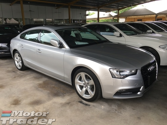 2013 AUDI A5 2.0 TFSi Quattro Sport Back New Facelift MMi 3 Keyless Smart Entry Push Start Button Automatic Sun Roof Memory Power Seats Multi Function Paddle Shift Steering Bucket Seat Bluetooth Connectivity Bi Xenon LED Reverse Camera 1 Year Warranty Unreg