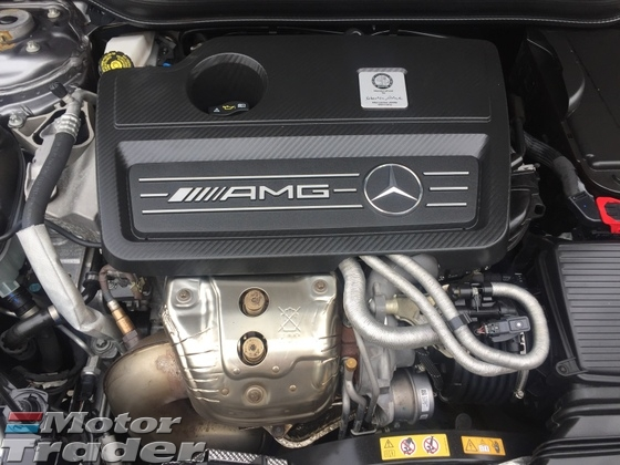 2014 MERCEDES-BENZ A-CLASS A45 AMG Sport  2.0 Fully Handcraft by MercedesAMG Turbocharged 4MATIC 355hp SpeedShift 7GDCT Multi Function Paddle Shift Steering Bucket Seat Mercedes Benz Media Command Interface Xenon LED Light Bluetooth Connectivity 1 Year Warranty Unreg