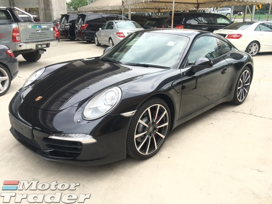 2014 PORSCHE 911 S 3.8 7Speed PDK 395hp PCM SportSport Plus Active Chassis Selection Multi Function Paddle Shift Steering Bi Xenon LED 6 Piston Monobloc Aluminium Caliper Bucket Seat Bluetooth Connectivity 1 Year Warranty Unreg