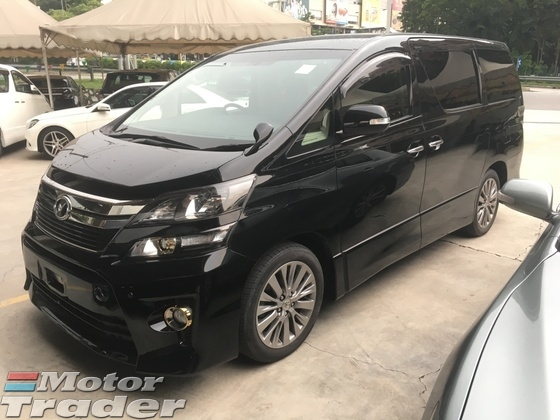 2013 TOYOTA VELLFIRE 2.4 Golden Eye Edition New Facelift Automatic Power Boot 2 Power Doors 7 Seat Alcantara SemiLeather Xenon Light Keyless Smart Entry Push Start Button DVD Player Front and Reverse Camera Zone Climate Control Body Kits 1 Year Warranty Unreg