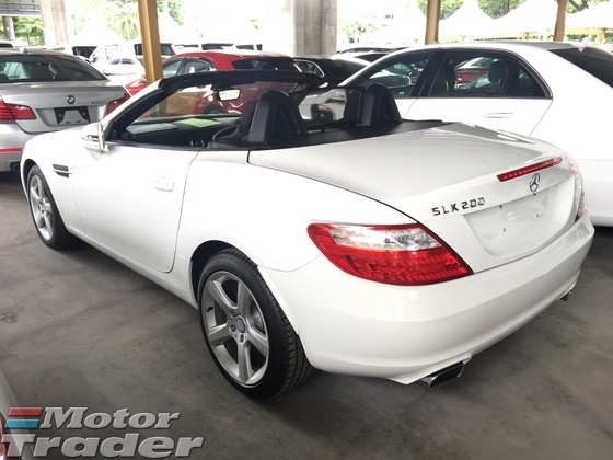 2014 MERCEDES-BENZ SLK SLK200 CGi 7GTronic Turbocharged Panora