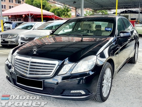 2010 MERCEDES-BENZ E-CLASS E200 CGI W212 Model (Auto) Local CKD (Full Loan Up to 8 Years)