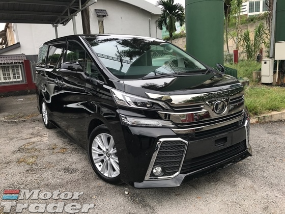 2016 TOYOTA VELLFIRE 2.5 ZA SUNROOF HIGH SPEC (PRE CRASH SYSTEM)