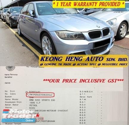 2009 BMW 3 SERIES E90 320i FACELIFT 2.0 MSPORT (ACTUAL YR MADE 2009)(GST INCLU)(CKD LOCAL SPEC)(TIPTOP)(LOW MILE)