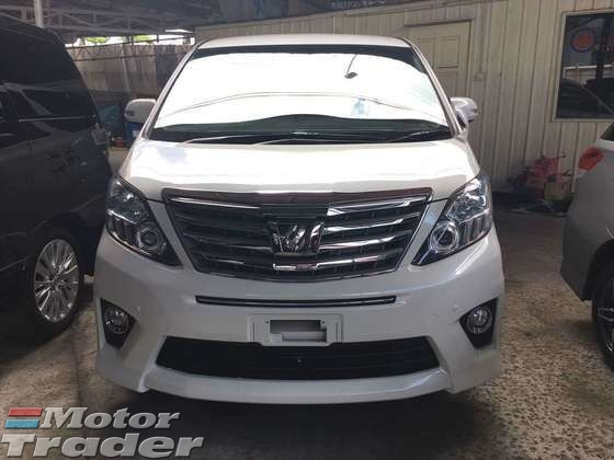 2013 TOYOTA ALPHARD 2 4 S WHITE EDITION WITH COOL BOX 7 SEATER 2