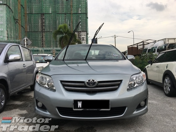 2009 TOYOTA COROLLA ALTIS 1.6 E (A) CTOS PTPTN CAN LOAN . FULL LOAN AVAILABLE . EXCELLENT CONDITION . ONE OWNER . SPECIAL PROMOTION .