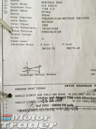 2003 MERCEDES-BENZ CLK CLK200