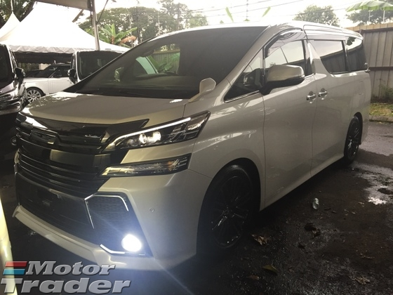 2015 TOYOTA VELLFIRE 2.5 ZA SUNROOF SPECIAL BODY KIT AND SPORT RIM