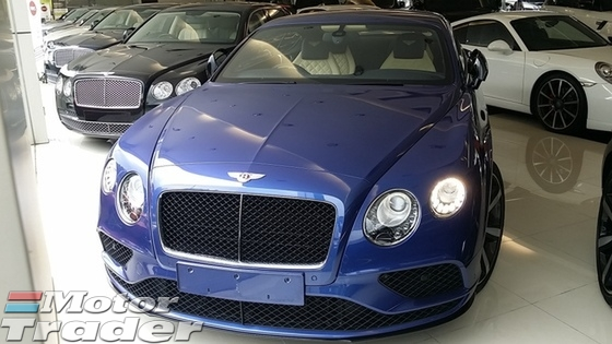 2016 BENTLEY GT CONTINENTAL GT MULLINER COUPE UNREG SPEED GT