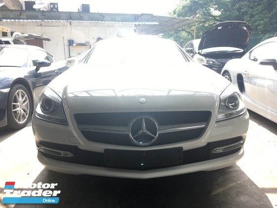 2014 MERCEDES-BENZ SLK Unreg Mercedes benz SLK200 1.8 turbo convertible top 7G