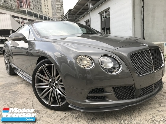 2015 BENTLEY GT SPEED 6.0L  W12 UNREG GREY COUPE