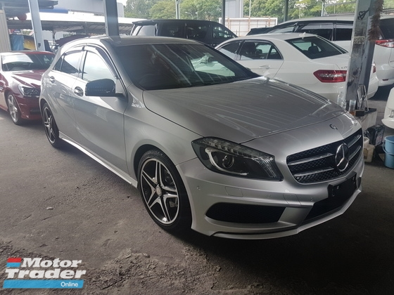 2014 MERCEDES-BENZ A-CLASS A180 AMG FULLSPEC.PRICE 0 SST.JPN.PADDLE SHIFT.LED LIGHT.REVERSE CAM.TRUE YEAR 14 UNREGISTER
