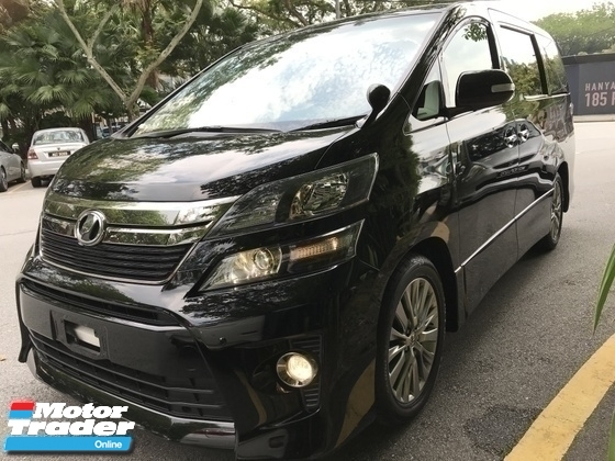 2014 TOYOTA VELLFIRE 2.4 GOLDEN EYE 2 UNREG  BLACK