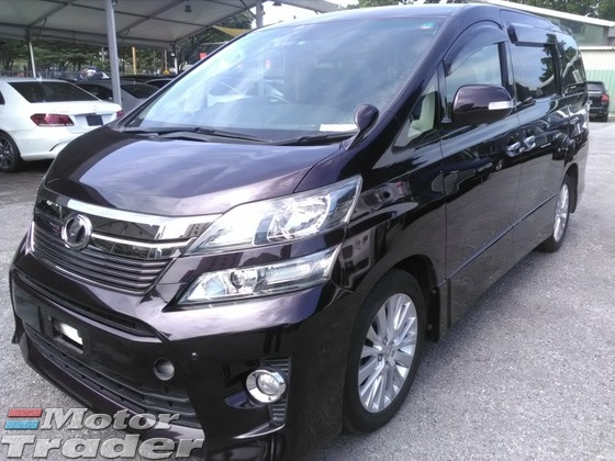 2013 TOYOTA VELLFIRE TYPE Z RECOND ZP UNREG Z PLATINUM NEW