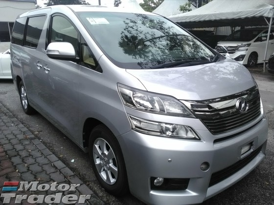 2013 TOYOTA VELLFIRE UNREG RECOND LIKE NEW Z P