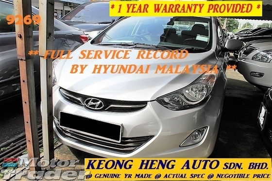 2013 HYUNDAI ELANTRA 1.8 GLS (ACTUAL YR MADE 2013)(GST INCLU)(FULL SERVICE)(1 OWNER)(LOW MILE)(VERY TIPTOP)(CHERAS AREA)