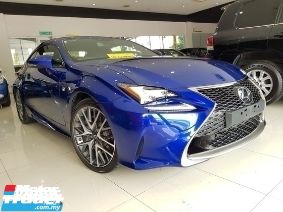 2016 LEXUS RC F SPORT 2.0 TURBO SUNROOF FULLSPEC UNREGISTER