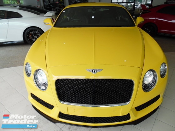 2014 BENTLEY CONTINENTAL GT 4.0 V8 S  TWIN TURBO LUXURY SPORT COUPE
