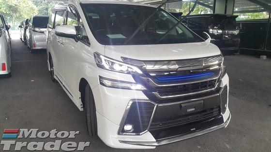 2016 TOYOTA VELLFIRE 2016 Toyota Vellfire 2.5 ZG WITH FRONT GRILL SPORT PLS CALL 019 3839680 CHONG