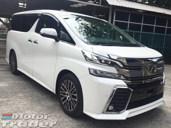 2015 TOYOTA VELLFIRE 2.5 ZG JBL.4CAM.P CRASH. Full Spec Many Units