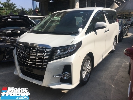 2015 TOYOTA ALPHARD Unreg Toyota Alphard 2.5 SA 7seather 360View PowerBoot Camera Keyless 7G