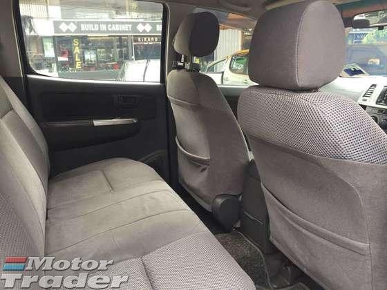 2011 TOYOTA HILUX Toyota Hilux 2.5G (M) 4X4 TURBO DOUBLE CAB TRITON RANGER DMAX