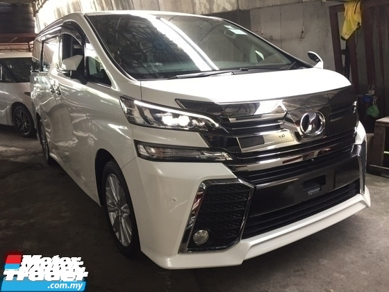 2016 TOYOTA VELLFIRE 2.5 ZA SPEC 7 SEAT.PRICE 0 SST.POWER BOOT N 2 POWER DRS.360 SURROUND CAMERA.LED LIGHT.BODYKIT.TRUE YEAR 16 UNREG.FREE WARRANTY N MANY GIFTS