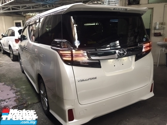 2016 TOYOTA VELLFIRE 2.5 ZA SPEC 7 SEAT.SUNROOF.PRICE 0 SST.PO BOOT N 2 POWER DRS.360 SURROUND CAMERA.LED LIGHT.BODYKIT.TRUE YEAR 16 UNREG.FREE WARRANTY N MANY GIFTS