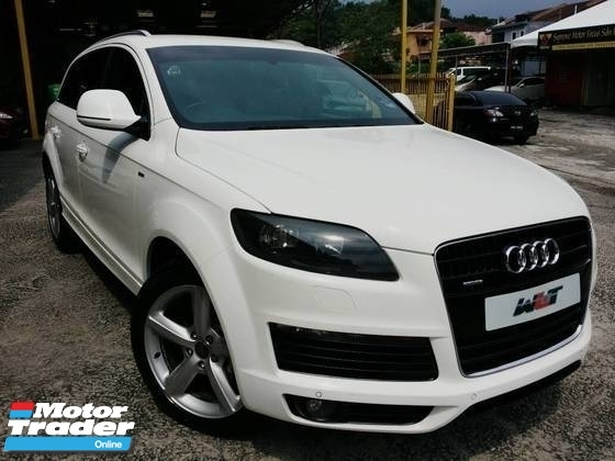 2008 AUDI Q7 REG 12 3.0 (A) DIESEL TURBO S-LINE QUATTRO 7 SEATER GOOD CONDITION PROMOTION PRICE \