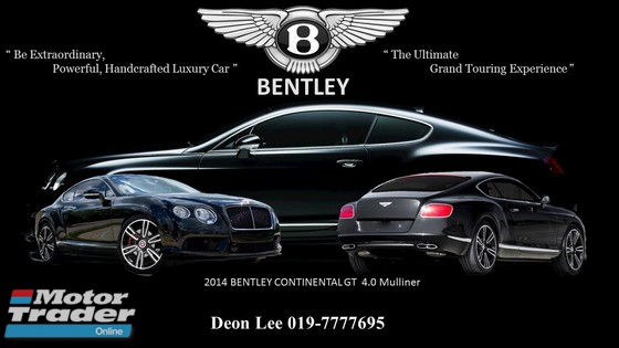 2014 BENTLEY CONTINENTAL GT 4.0 Mulliner Edition