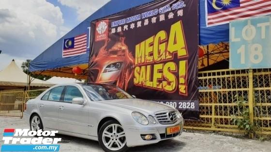 2010 MERCEDES-BENZ E-CLASS  2.5 ( A ) V6 SPORT EDITION !! HIGH SPECS MODEL !! W211 AVANTGARDE MODEL !! ( VXX 7134 ) 1 CAREFUL OWNER !!