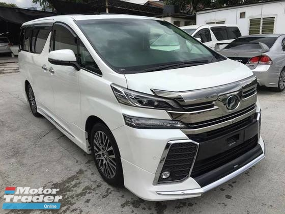 2015 TOYOTA VELLFIRE 2.5 ZG JBL LEATHER PILOT SEATS 360 CAMERA FULL SPEC UNREG