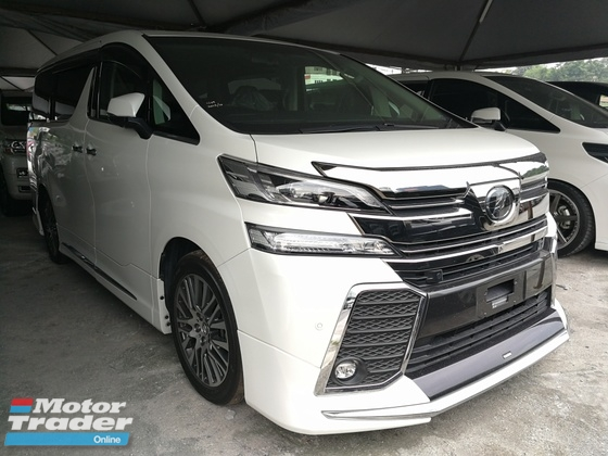 2017 TOYOTA VELLFIRE 2.5 ZG FULL SPEC SUNROOF JBL 360 CAMERA NEW CAR IN JAPAN UNREG