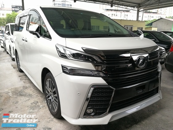 2016 TOYOTA VELLFIRE 2.5 ZG SUNROOF JBL HOME THREATER FULL SPEC UNREG