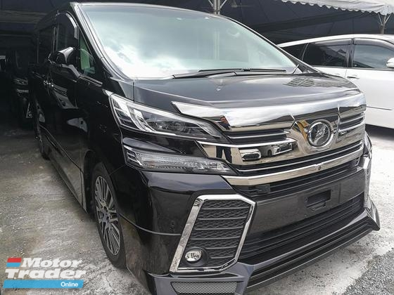 2015 TOYOTA VELLFIRE 2.5 ZG SUNROOF JBL HOME THREATER FULL SPEC UNREG