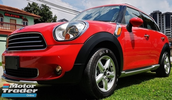 2013 MINI Countryman 2013 MINI COUNTRYMAN 1.6A JAPAN SPEC UNREG SELLING PRICE  ( RM 103,000.00 NEGO ) CAR BODY - RED COLOR ( 2233 )  JAPAN SPECIFICATION ALL ORIGINAL FROM JAPAN  MANUFACTURER YEAR 2013
