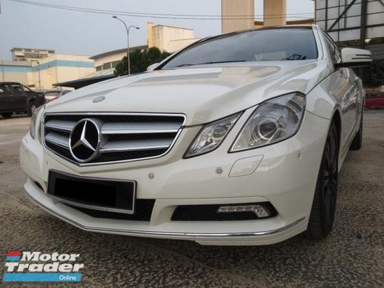 2010 MERCEDES-BENZ E-CLASS Coupe Full Spec