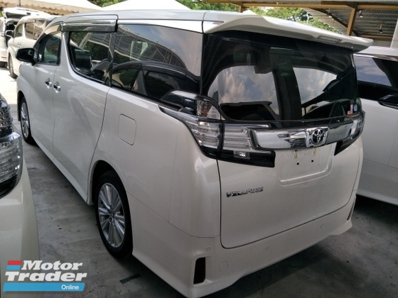 2015 TOYOTA VELLFIRE 2.5 ZA PRE CRASH STOP SYSATEM POWER BOOT