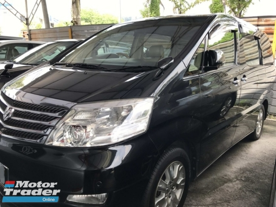 2007 TOYOTA ALPHARD 3.0 MZG FULLSPEC SUNROOF POWERBOOT, FREE MANY GIFTS REG 2008