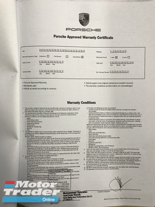 2013 PORSCHE PANAMERA PORSCHE PANAMERA 4 3.6 LOCAL NEW FACELIFT FULL SPEC UNDER WARRANTY PORSCHE MALAYSIA