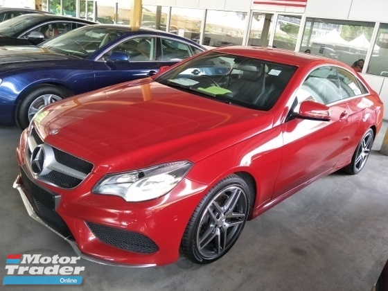 2014 MERCEDES-BENZ E-CLASS 2.0 AMG RED EDITION UK SPEC
