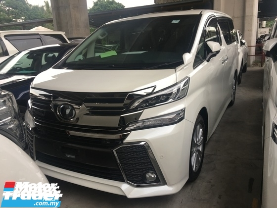 2017 TOYOTA VELLFIRE Unreg Toyota Vellfire Z 2.5 7seather 360View Cam 7G Keyless Sunroof