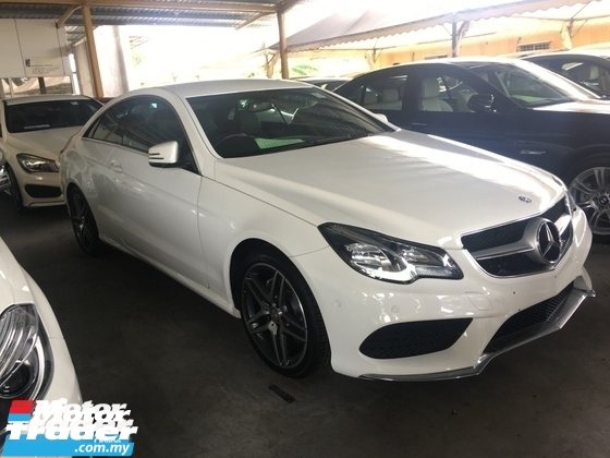 2014 MERCEDES-BENZ E-CLASS Unreg Mercedes Benz 2.0 AMG E200 Coupe Turbo 7G