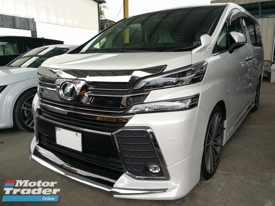 2015 TOYOTA VELLFIRE 2.5 ZG FULL SPEC SUNROOF JBL LEATHER MODELISTA UNREG