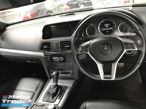 2013 MERCEDES-BENZ E-CLASS E200 1.8 AMG COUPE 7G ACTUAL YR 2013 NO GST NO SST PANORAMIC ROOF KEYLESS PUSHSTART 18 RIMS