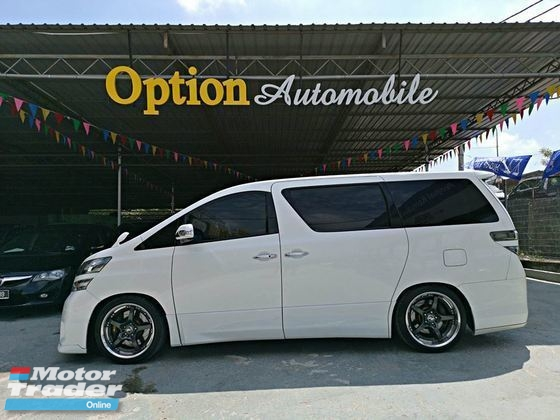 2009 TOYOTA VELLFIRE 2.4Z PLATINUM 2P/DOOR SUNROOF/MOONROOF P-BOOT OTR PRICE