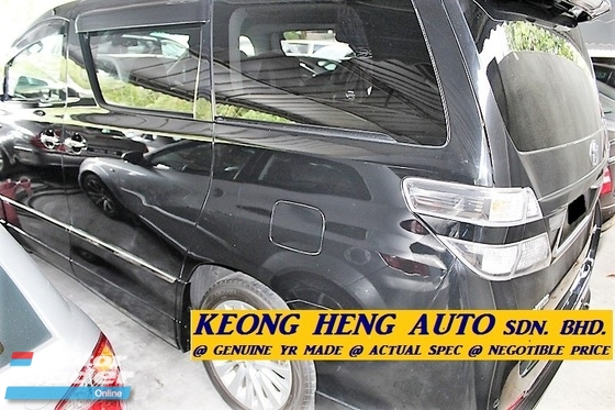 2012 TOYOTA VELLFIRE 3.5 ZG-VL MPV (ACTUAL YR MADE 2012)(NO GST)(ZG FULL SPEC)(1 OWNER)(REG 2015)(LOW MILE LIKE NEW)(KL)